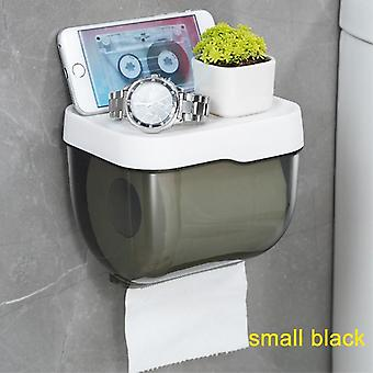 Waterproof Wall Mount Toilet Paper Holder, Shelf And Tray For Extra Storage