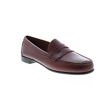 Sebago Clark Mens Brown Leather Loafers & Slip Ons Penny Shoes