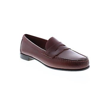 Sebago Clark Mens Brown Lederen Loafers & Slip Ons Penny Schoenen