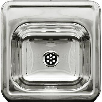 Lavandino decorativo quadrato drop-in entertainment/prep con superficie liscia - acciaio inossidabile lucido