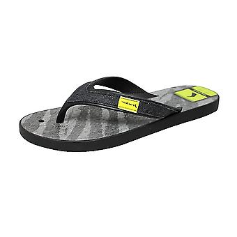 Rider Shape Mix Thong Mens Flip Flops / Sandals - Black
