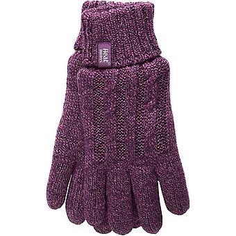 Heat Holders Women's Thermal Gloves Purple