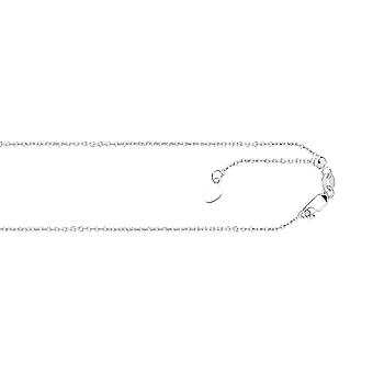 14k Wit goud 0,9 mm verstelbare klassieke kabelketting ketting sieraden geschenken voor vrouwen - Lengte: 22 tot 30
