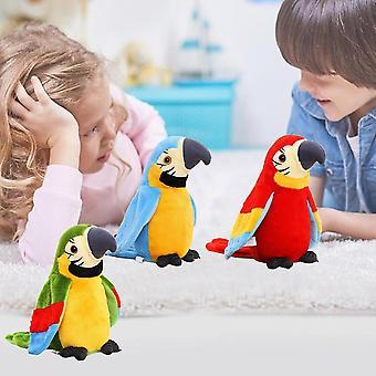 電気トーキングオウムぬいぐるみぬるぐるみ鳥リピートキッズ赤ちゃんの誕生日