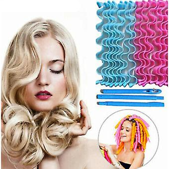 Long Hair Curlers Curl Leverage Rollers Spiral Ringlets Hairdressing Tool