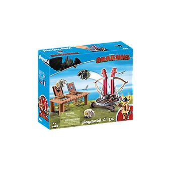 Playmobil - Dragons Gobber the Belch with Sheep Sling Playset
