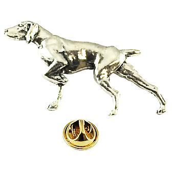 Krawatten Planet Pointer Hund Englisch Zinn Anstecknadel Abzeichen