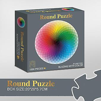 1000 Pcs/set Colorful Rainbow, Round Geometrical Photo Puzzle