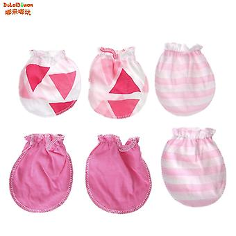 Fashion Baby Anti Scratching Gloves Cotton Mittens Newborn Protection Face