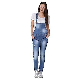 Kvinners dungarees - bib ned stil bib overalls vanlig passform
