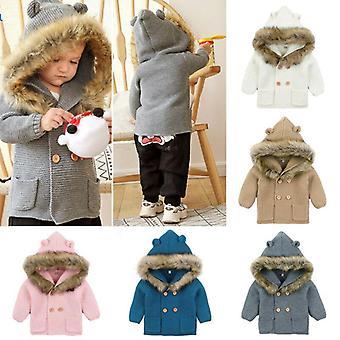 Talvi lämmin, hupullinen takit, Turkis kaulus Unisex päällysvaatteet
