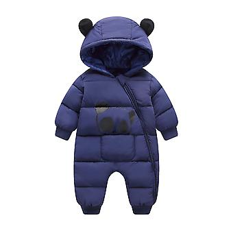 Cartoon Panda Grube Ciepłe Noworodka Baby Kombinezon / Snowsuit Rompers Kombinezon