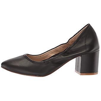 THE FIX Women's Shoes Amaya scrunched pump Leather Closed Toe Classic Pumps