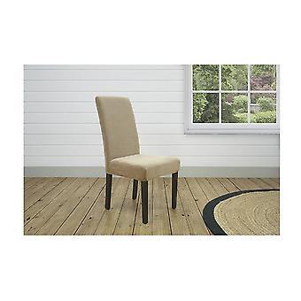 Stretch Pearson Dining Chair Cover Dark Flax