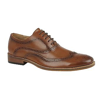 Goor Mens Oxford Leather Brogues