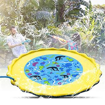 Children Water Spray Toy, Summer Water Sprinkler Mat Outdoor Lawn Game Water