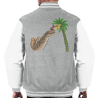 Neugierige George Dinosaurier Palme Männer's Varsity Jacke