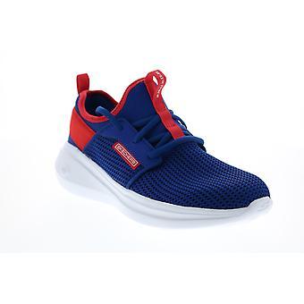 Skechers Go Run Fast Valor Femmes Blue Mesh Athletic Running Shoes