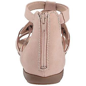 Natural Soul Women-apos;s AVONLEE Flat Sandal, Vintage Mauve, 10 M US