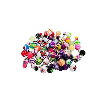 Lot of 20 14g belly button rings surgical steel piercing jewelry no duplicates