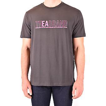 Emporio Armani Ezbc113035 Men's Grey Cotton T-shirt