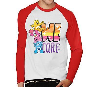Care Bears Unlock The Magic We Care Men's Baseball Long Sleeves T-Shirt