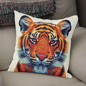 Colorful Tiger Print Pillow