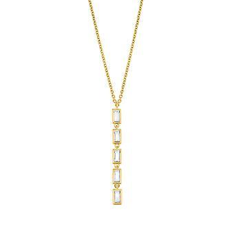 s.Oliver Jewel kvinnors halsband halsband silver zirconia Y-Collier 2029417