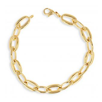 Gold-plated necklace Mesh Oval 60cm