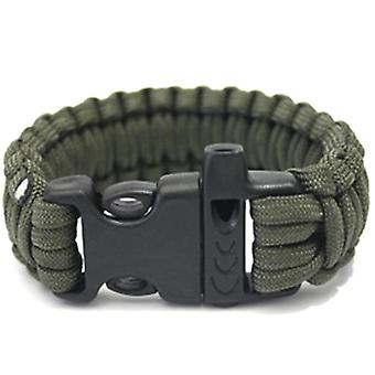 1pc Outdoor Camping Paracord Parachute Cord Survival Bracelet Rope With Whistle