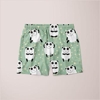 Panda mønster shorts