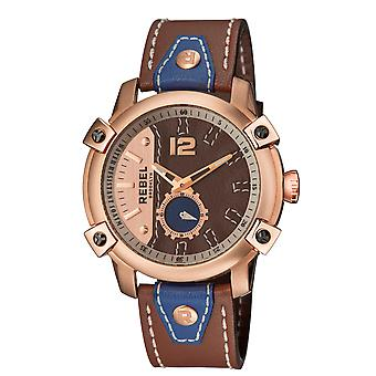 Rebel Men's Weeksville Khaki (tan) Dial Leather Watch