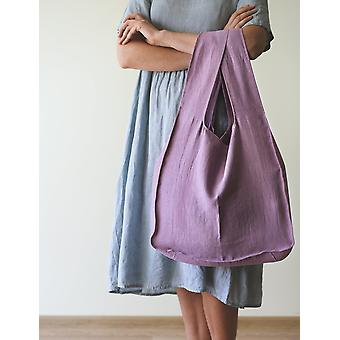 Linen Tote Bag With Inside Pocket