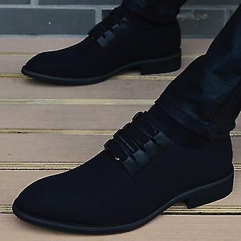 Férfi és apos; s divat bőr mokaszin hegyes toe klasszikus esküvői cipő