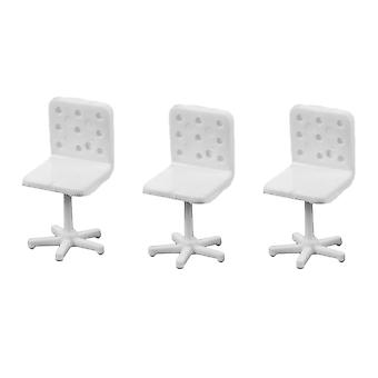5pcs Dollhouse Office Chair Mini Model Chair DIY Decoration Office Chair