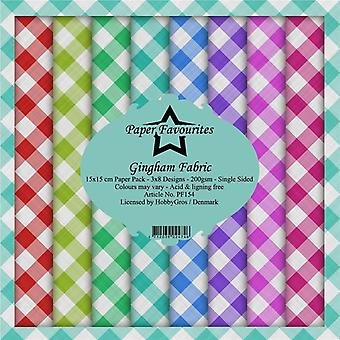 Paper Favourites Gingham Fabric 6x6 Inch Paper Pack