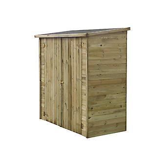 Caseta de jardon adosada LIPKI - 1,79 x 0,90 x 1,76/1,86 m - 1,62 m2 - Sin suelo