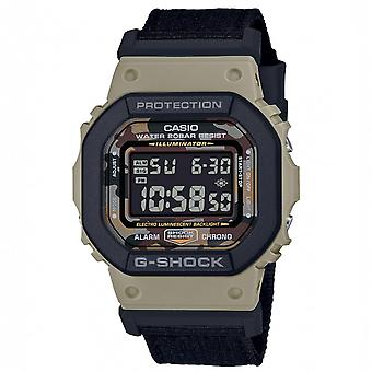 G-Shock Dw-5610sus-5er Green Resin Digital Watch With Black Nylon Strap