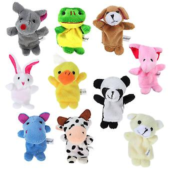 Winomo finger puppets,10pcs different style soft plush animals finger puppets set for babies and tod