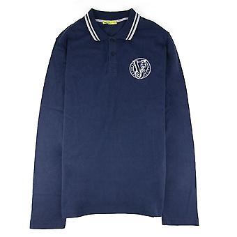 Versace Jeans Haftowane logo L/s Polo Navy