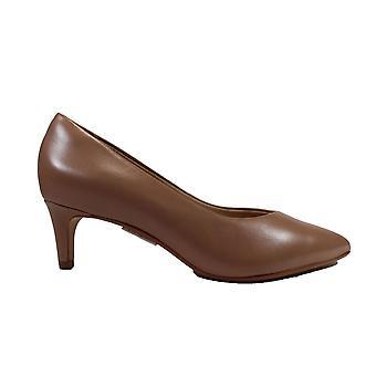 Clarks Laina 55 Court 2 Praline Leather Womens Smart Court Shoes