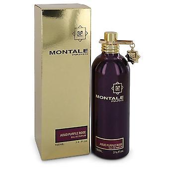 Montale Aoud Purple Rose Eau De Parfum Spray (Unisex) par Montale 3.4 oz Eau De Parfum Spray