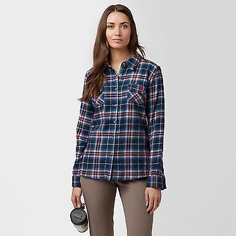 New Brakeburn Women's Large Check Flanel Shirt Navy