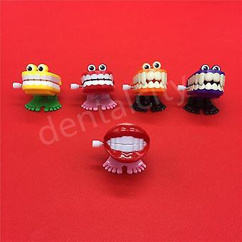 Hračky kreatívne, zubné, jarné plasty, skok zuby reťaz