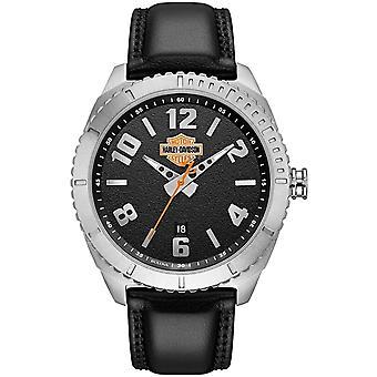 Harley Davidson 76B181 Men's Bar And Shield Wristwatch