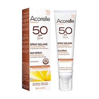 SPF 50 Korkea suoja Aurinko spray Bio 100 ml