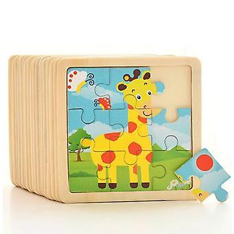 Tier/Verkehr Puzzles Baby pädagogische Puzles 3D Holz Puzzles Cartoon Kinder Kinder Spielzeug