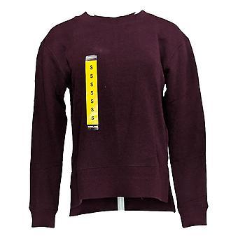 Kirkland Signature Women's Sweater Long Sleeve Crew Neck Pullover Purple
