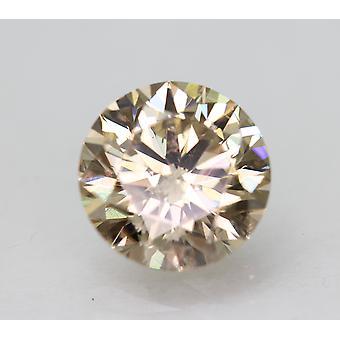 Cert 1,76 Karat hellbraun SI1 Runde brillant verbessert natürlichen Diamant 7,65 mm