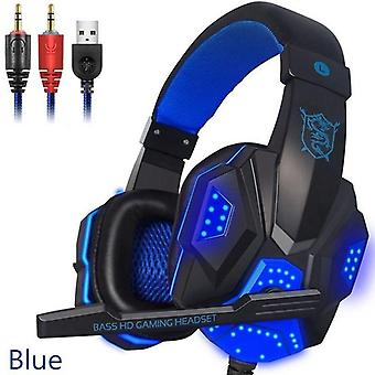 2.2m Gaming Headsets Big Headphones With Light Microphone Stereo Earphones
